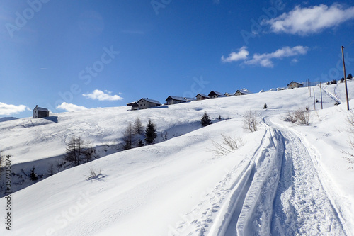 Mountain panorama of the ski area in the Lepontine Alps #357935874