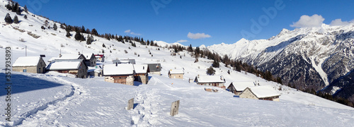 Mountain panorama of the ski area in the Lepontine Alps #357935893