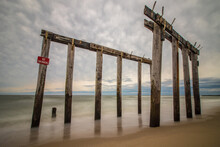 The Remnants Of A Fishing Pier...