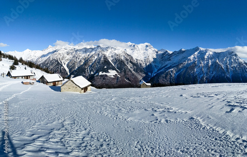 Mountain panorama of the ski area in the Lepontine Alps #357936051