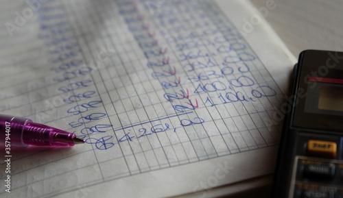 Contabilità e finanza in ufficio - business Fototapeta