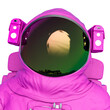canvas print picture - astronaut profile image
