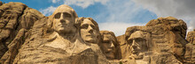 Iconic Panorama Of Mount Rushmore In South Dakota, United States Of America. Tourism, Travelling Hot Spot.