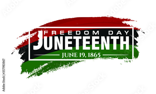 Juneteenth. June 19, 1865. Freedom, Emancipation, and Independence Day Ceremonial. Design of Banner and Flag. Vector logo Illustration. - 357983867