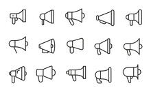 Icon Set Of Megaphone.