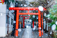雪景色の東京