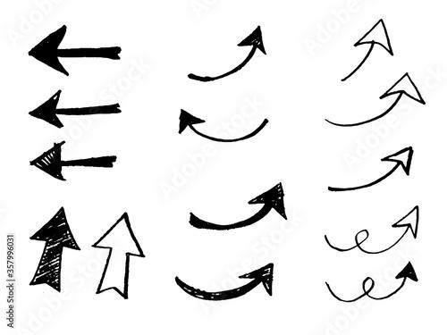 Fototapeta 手描きの矢印コレクション obraz