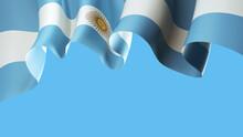 Argentina Waving Flag On Blue ...