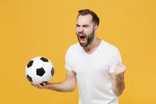 Angry Young Bearded Guy Footba...