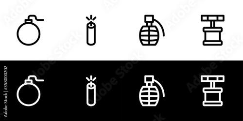 Papel de parede Bomb icon set