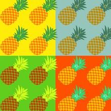 Summer Pop Art Pineapple Illus...