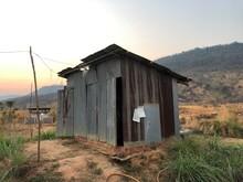 Corrugated-iron Hut In Cambodia