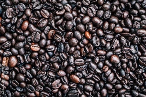 Valokuvatapetti Brown roasted whole coffee beans background