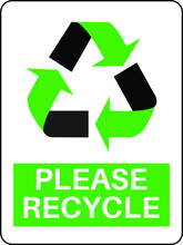 Please Recycle Green Vector Sign