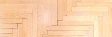 Light Beige Wooden Parquet Wit...