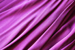 canvas print picture - Pink satin fabric with pleats background