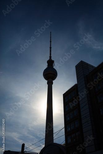 Berlin, Germany - 17th August 2018: The Fernsehturm TV Tower near Alexanderplatz Wallpaper Mural