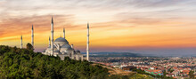Camlica Mosque In Istanbul, Tu...