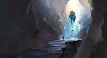 Strange Cave, Digital Painting.