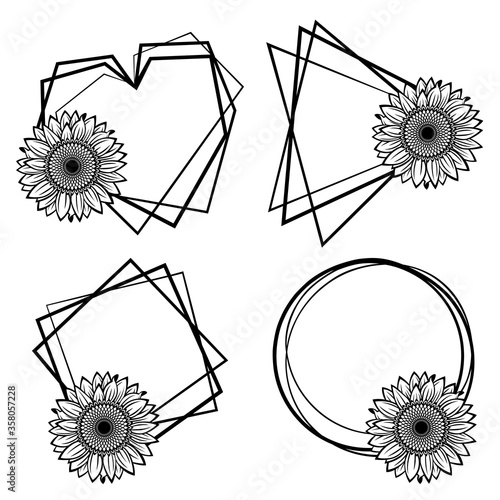 Frame with sunflower #358057228