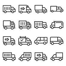 Set Of Transport Line Vector ...