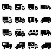 Transport Glyphs Vector Icon ...