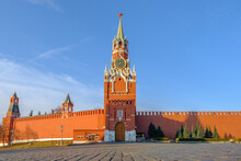 Front View Of Spasskaya Tower ...