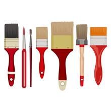 Paint Brushes Isolated On Whit...