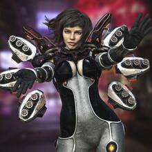 Portrait Of A Sci-fi Female Ra...