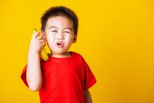 Happy Portrait Asian Child Or ...