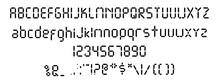 Digital Font. Vector Template ...