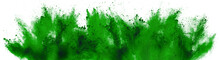 Bright Green Holi Paint Color ...