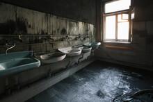 Burnt House Interior. Charred ...