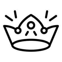 Shiny Crown Icon. Outline Shin...