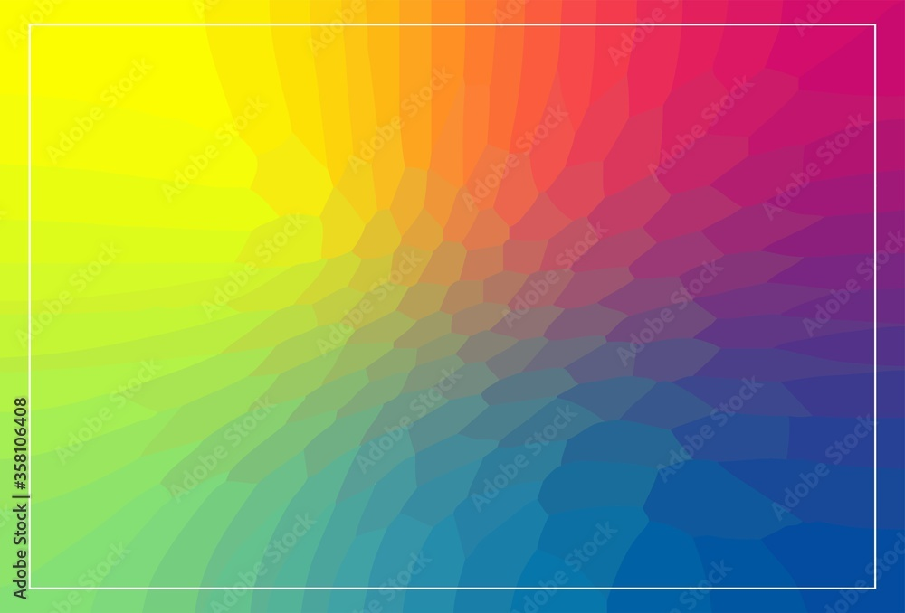 Fototapeta Colorful, irregular polygon background. Spectrum abstract background. Vector  illustration EPS