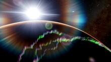 Aurora Borealis On Distant Pla...