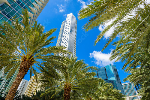 Downtown Miami Brickell Cityscape Fototapeta
