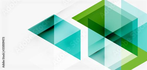 Geometric abstract background, mosaic triangle and hexagon shapes Fototapeta