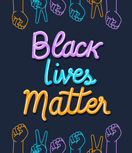 Black Lives Matter With Fists ...