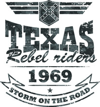 Biker's Artwork 'Texas-rebel R...