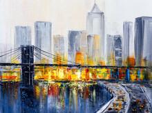 Oil Painting - Brooklyn Bridge, New York