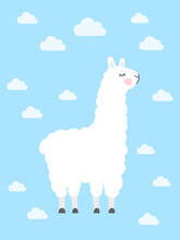 Illustration Of The Cute Llama...