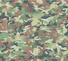Camouflage Seamless Pattern. Gradient Effect