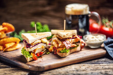 Chicken And Cheese Sandwich Wi...