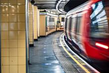 Motion Blurred Underground Tra...