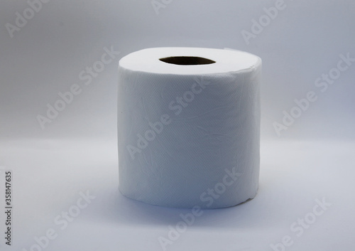 Photo Toilet paper is a type of thin absorbent paper used for personal and sanitary hygiene