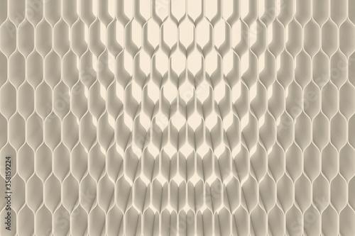 Fototapeta 3D illustration of modern and minimalistic structure. 3D concept for use as background or desktop. obraz