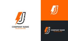 Flash J Letter Logo Icon Templ...