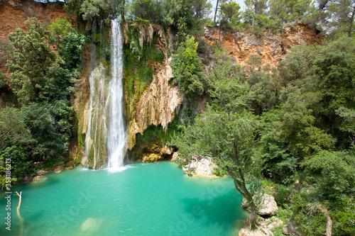 Fotografie, Obraz Cascade de Sillans (also written as Sillans la cascade) is one of the most beaut