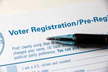 Heading Of Voter Registration ...